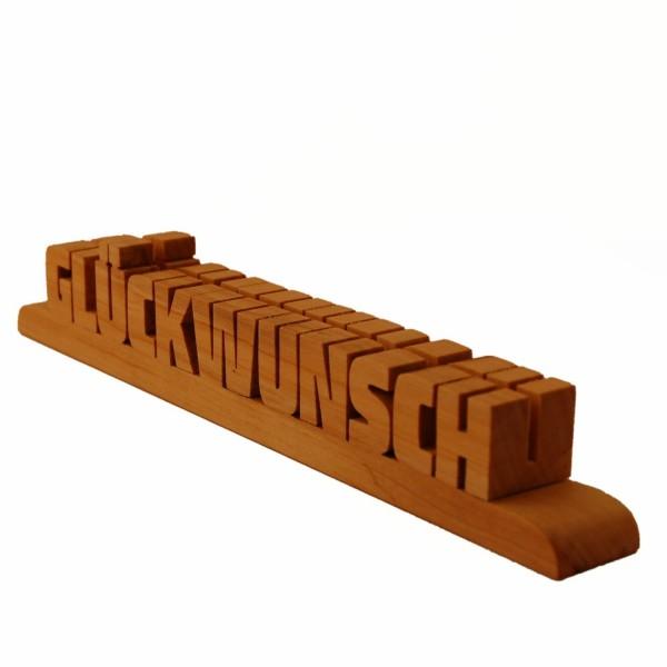 Holzschriftzug Ahornholz