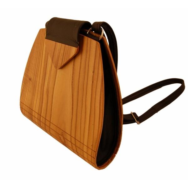 Handtasche aus Holz, Essigbaum, made by Holz-Fichtner