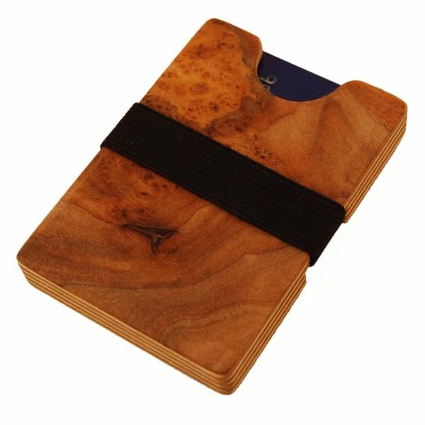 Portafoglio di legno extra sottile