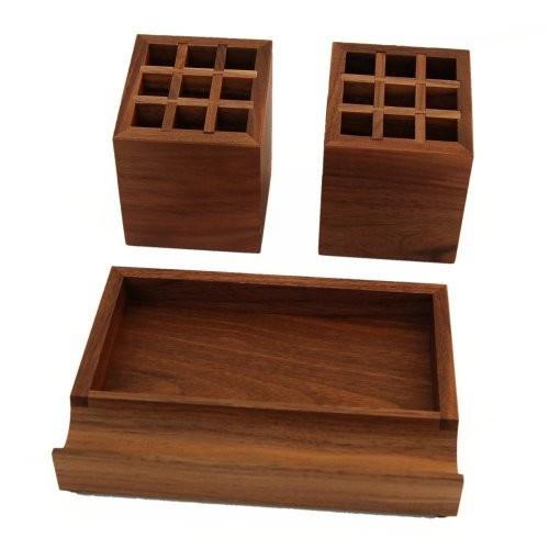 Schreibtischstiftbox Nussbaum