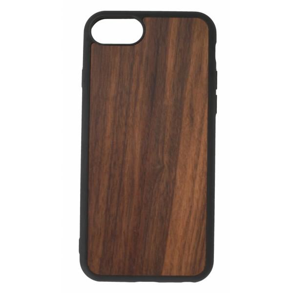 Étui de protection en bois de noyer Iphone SE