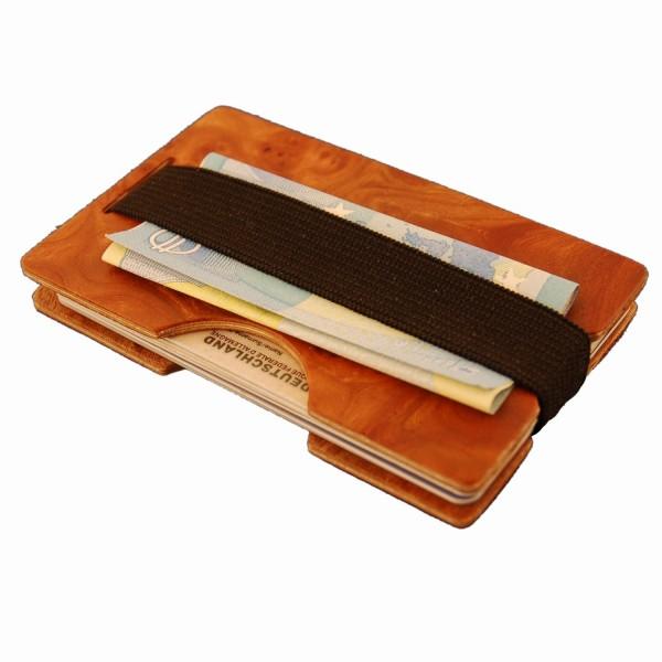 Mini-portefeuille en bois