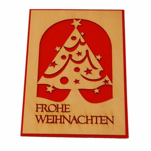 """Holzkarte """"Frohe Weihnachten"""""""