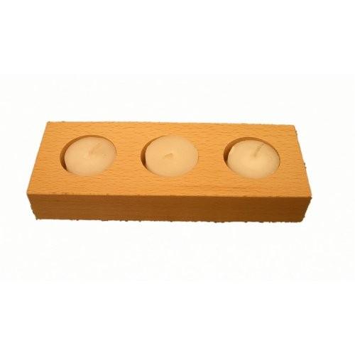Teelichthalter Holz