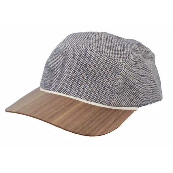 casquette tendance en lin avec visière en bois