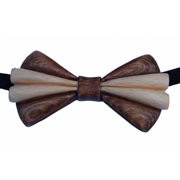 Carved beech wood bow tie