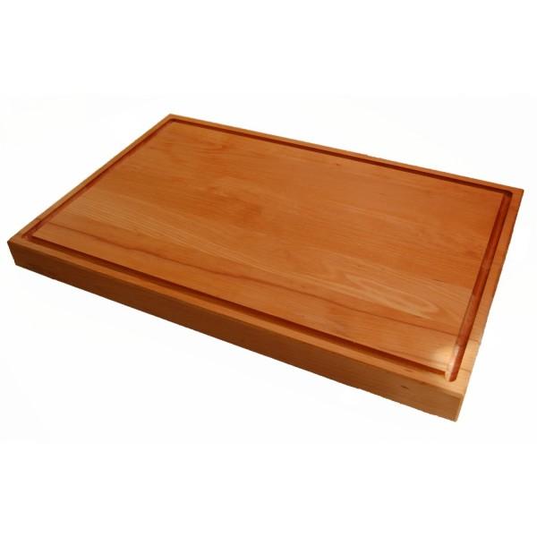 Holzschneidbrett Buche mit Saftrille