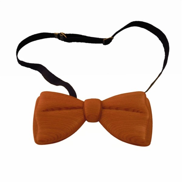 unique bow-tie made from cherry wood