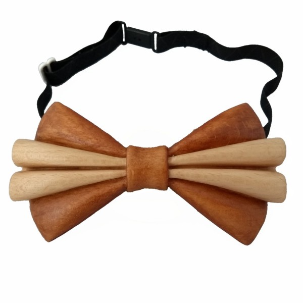 handcarved beech wood bow tie