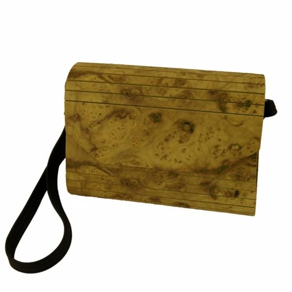 Holzhandtasche Pappelholz