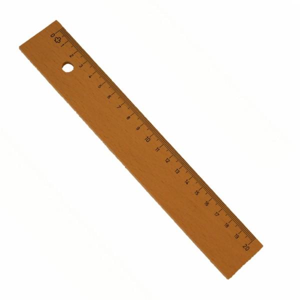 nachhaltiges Holzlineal 20cm, Buchenholz