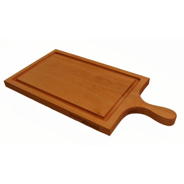 Holzschneidebrett mit Griff Buche