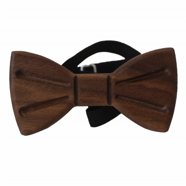 stylish wooden bow tie made of walnut wood