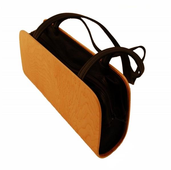 Handbag by Holz-Fichtner, bird's-eye maple