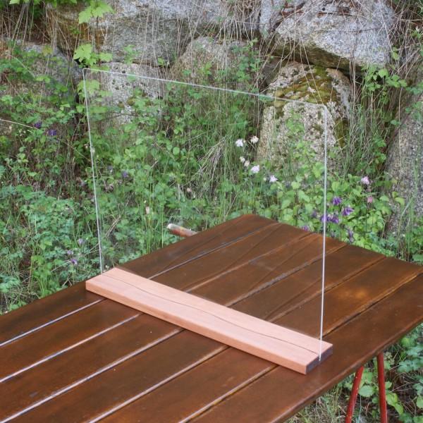Niesschutz Acryl mit Holzleiste