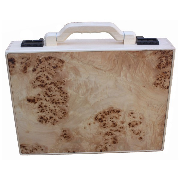 sturdy wooden briefcase made of poplar wood