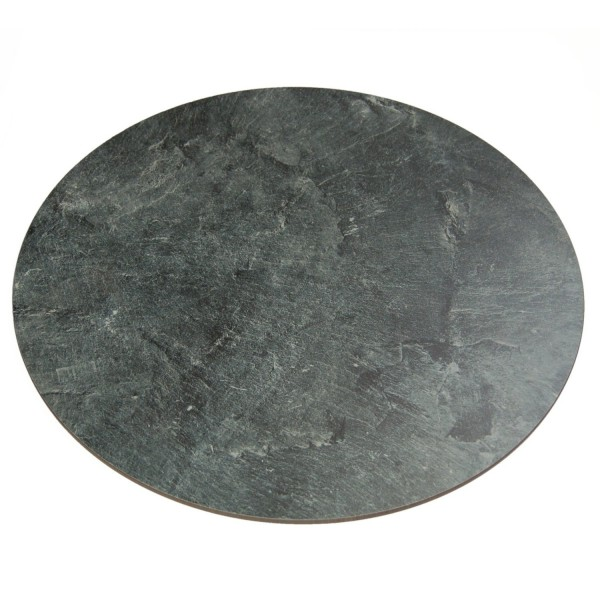 Tray artificial slate round 78cm