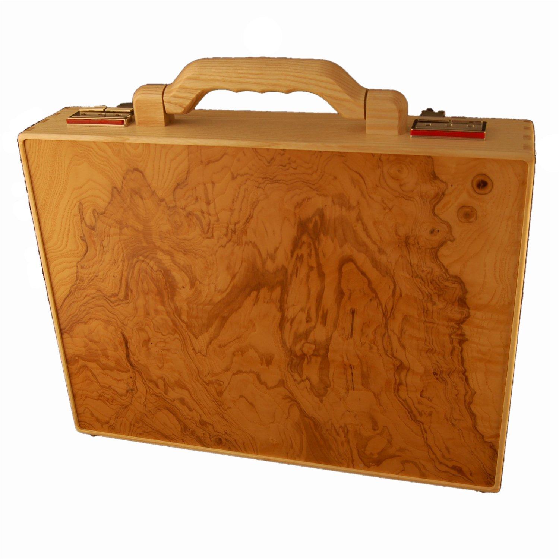 exclusiver holzaktenkoffer aus eschenholz holz fichtner aktenkoffer handtaschen und mehr aus