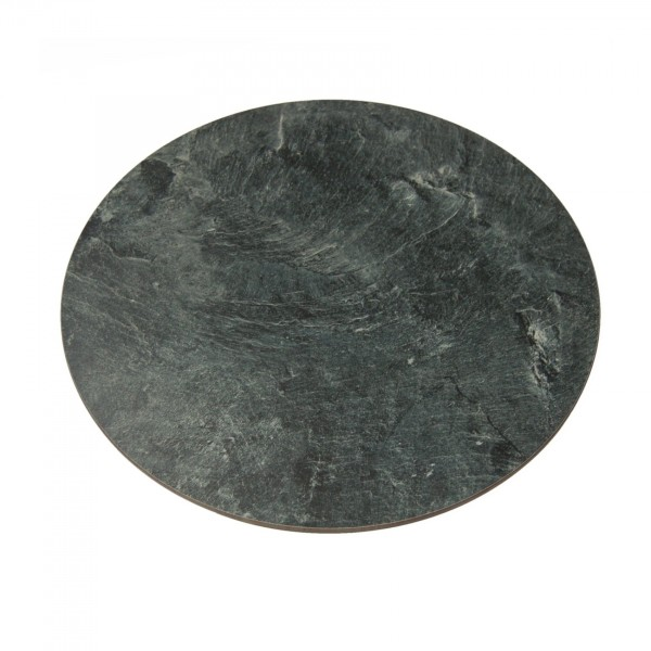 ound buffet plate 40cm of artificial slate