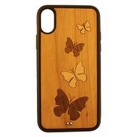IPhone X Cover mit Holzintarsien