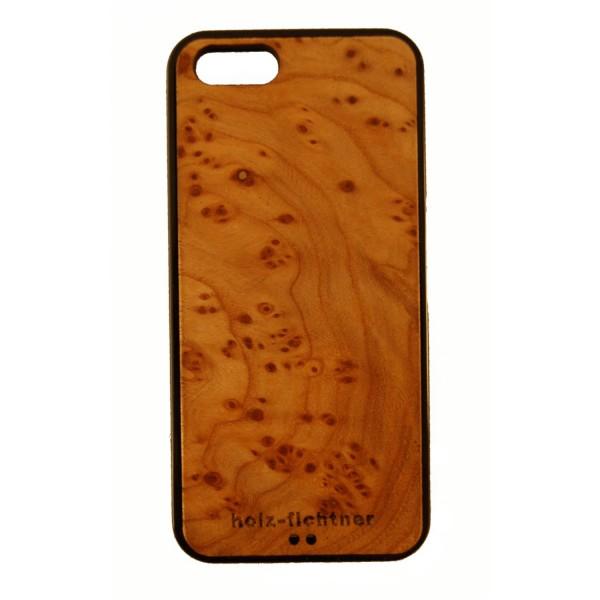 Holzcover für IPhone 5, Rüstermaserholz