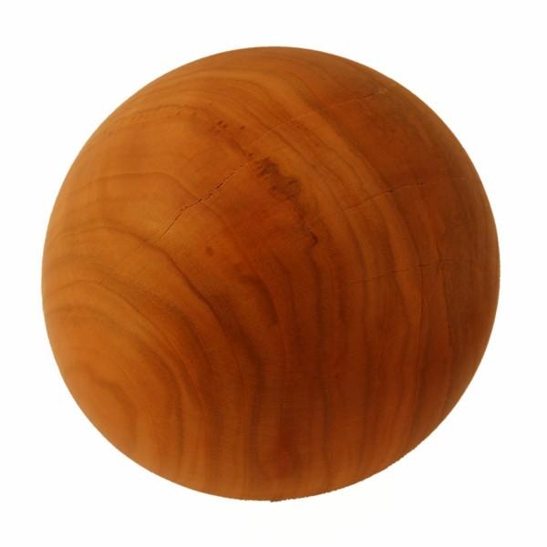 handgedrechselte Dekorationsholzkugel 14cm Kirschholz