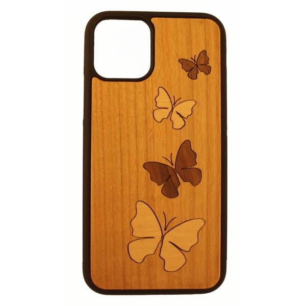 Cherry wood case IPhone11Pro with marquetry