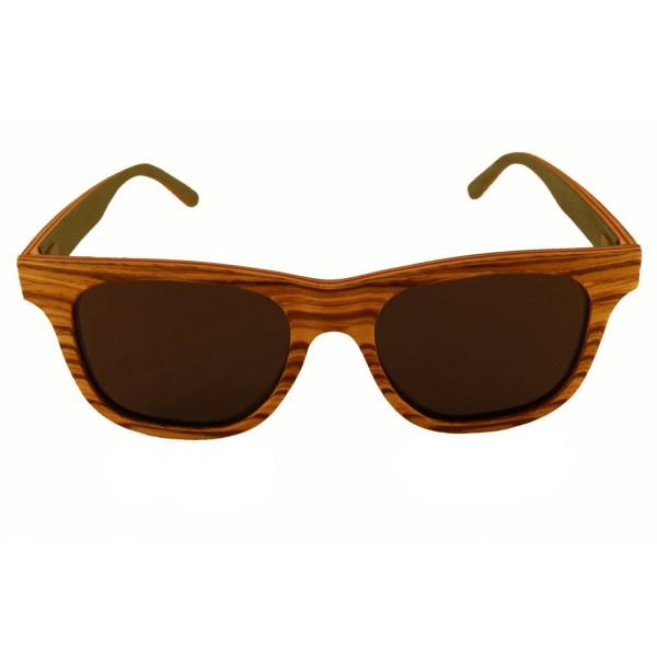 Holzsonnenbrille Zebranoholz