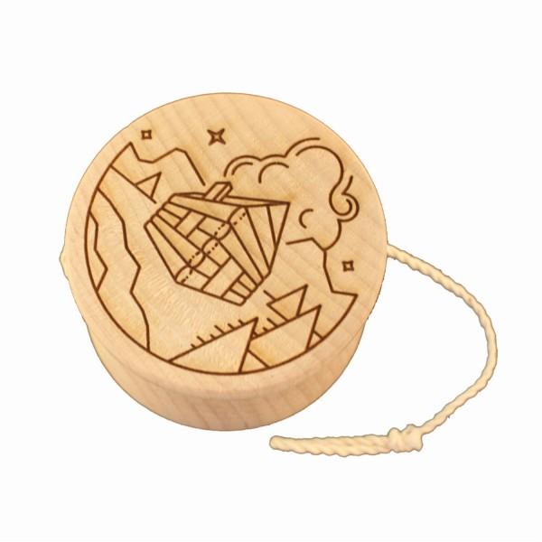 Yoyo in legno d'acero