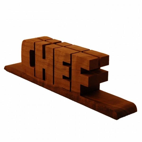 Holzschriftzug Nussbaumholz