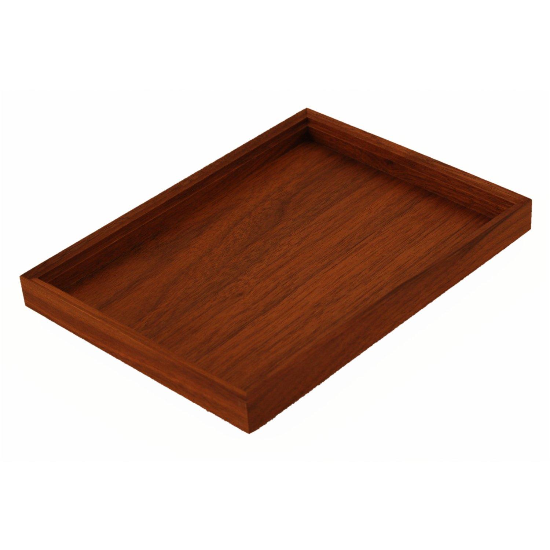 holztablett 20 cm x 15 cm aus edlem nussbaum holz fichtner aktenkoffer handtaschen und mehr. Black Bedroom Furniture Sets. Home Design Ideas