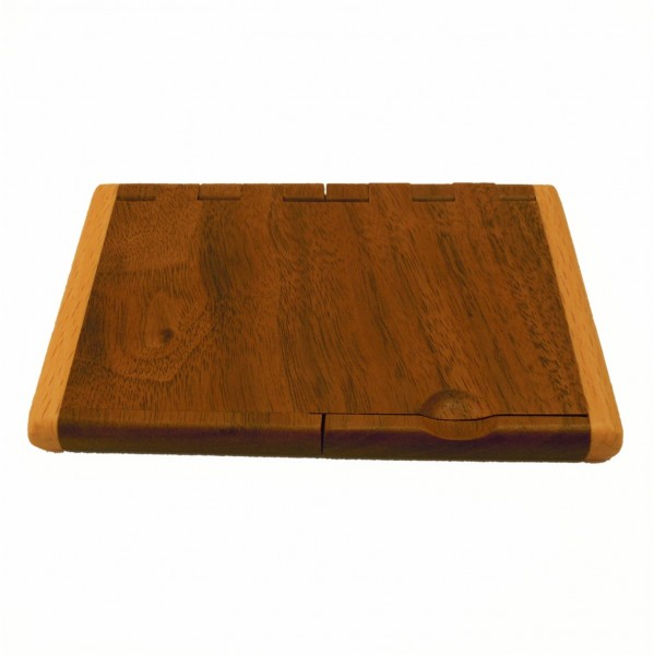 Etui en bois pour cartes de visite et de crédit