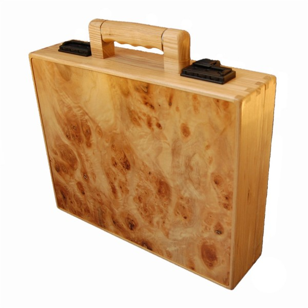 Porte-documents en bois noisette